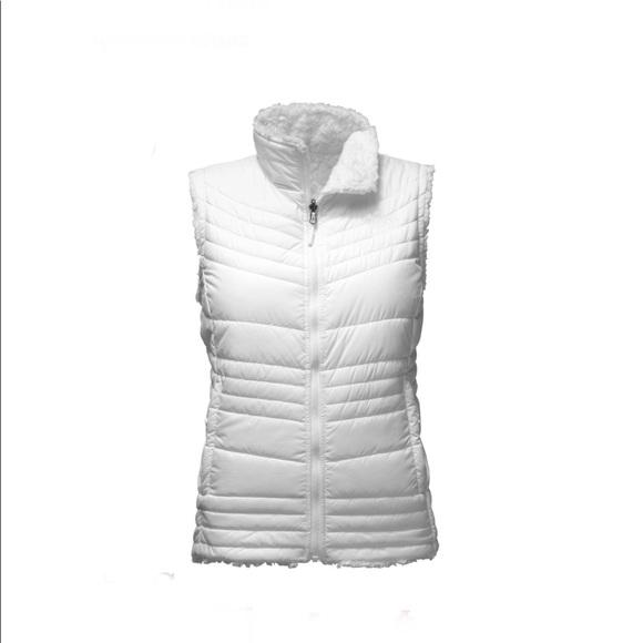9550abd67a6c North Face White Mossbud Swirl Vest